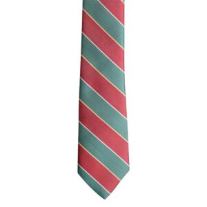 Made in Nevada Red and Green wide stripes necktie (narrow)