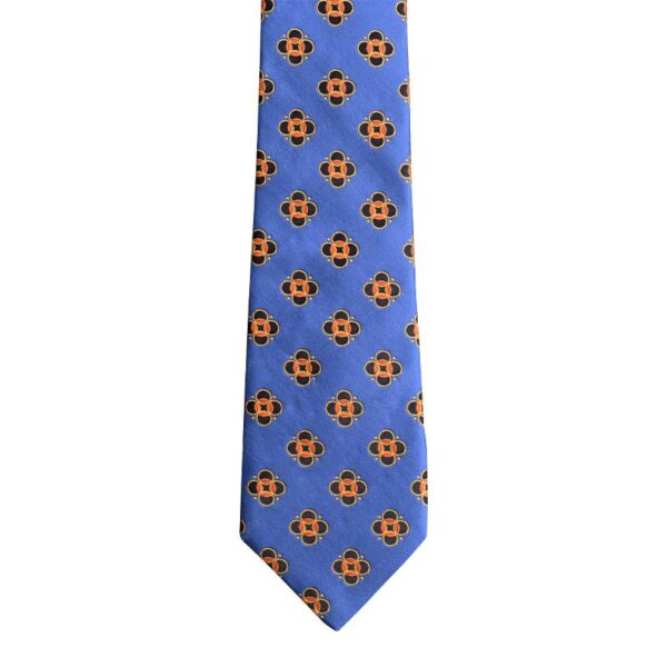 Made in Nevada Royal blue necktie with black/yellow circles