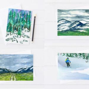 Made in Nevada Nevada Winter Landscape Card Set