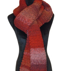 Made in Nevada King Me Red Hand-Crocheted Scarf