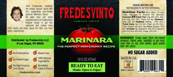 Made in Nevada Fredesvinto Gourmet Marinara Sauce