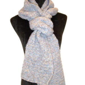 Made in Nevada Taken For Granite Hand-Crocheted Scarf – Supersoft Luxe Collection