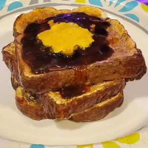 Made in Nevada Buttered Toast with Grape Jelly