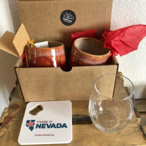Made in Nevada Clay wine glasses